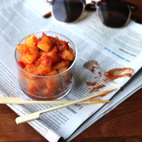 Spanish supper: Quick & healthy patatas bravas