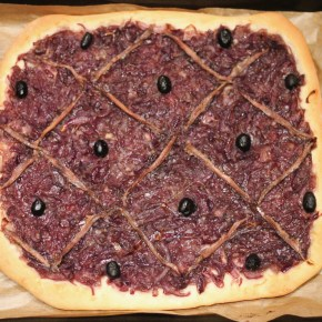 French treat: Red onion pissaladière