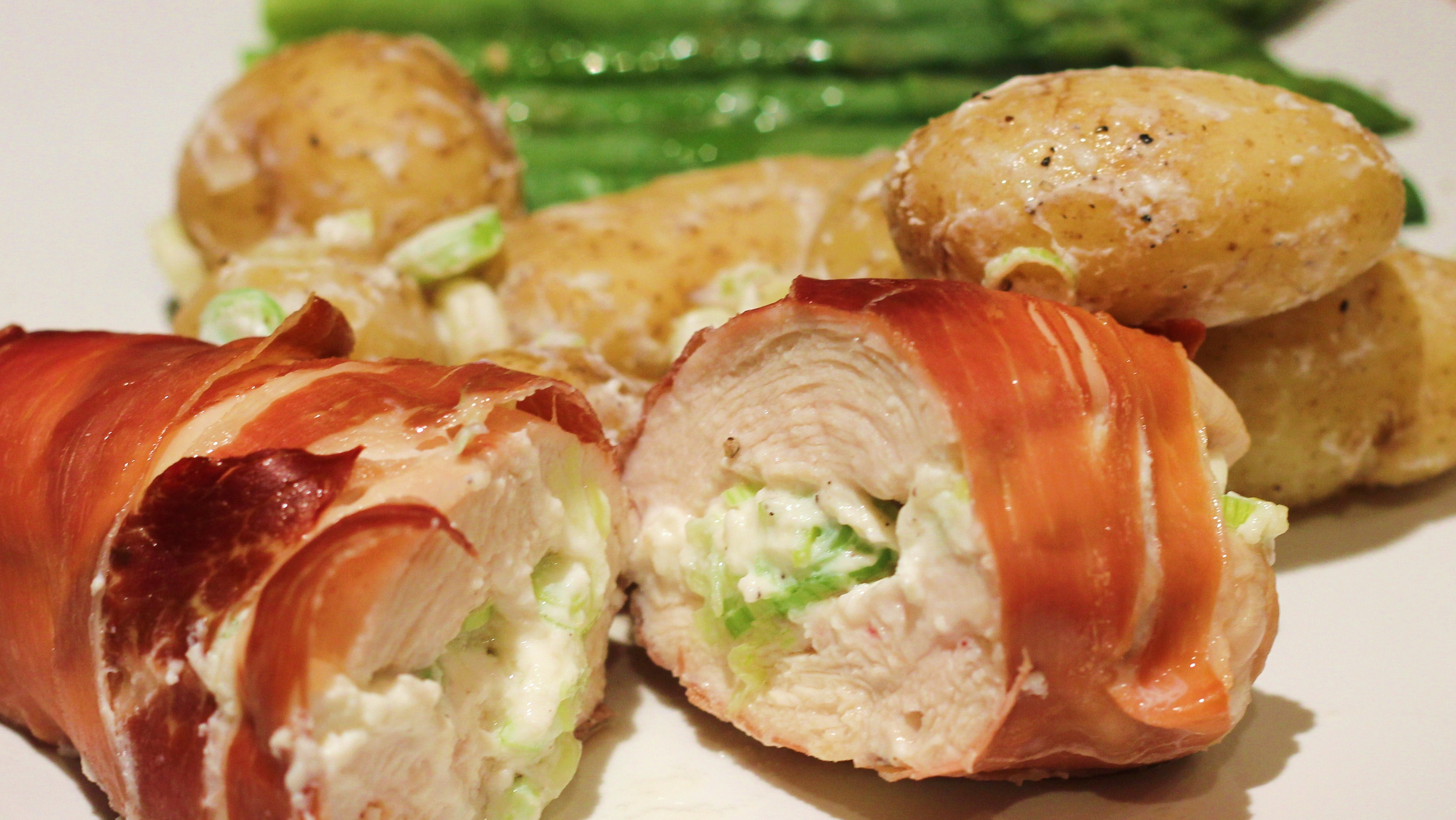 Ricotta-stuffed chicken breasts wrapped in Parma ham | pip & little ...