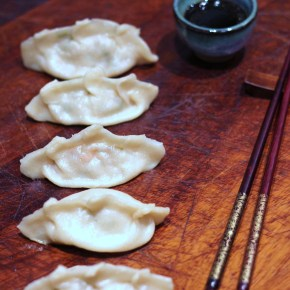 Japanese supper: Pork & prawn gyoza