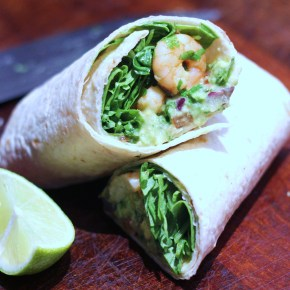 Mexican supper: Fiery prawn & guacamole wraps