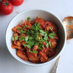 Speedy chicken, chorizo & chickpea stew