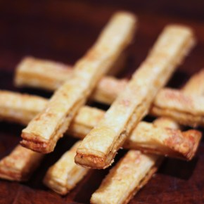 Truffle salt & pepper cheese straws