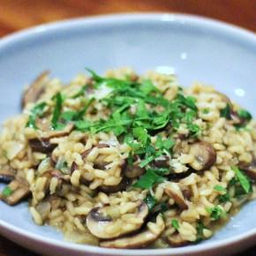 Truffly porcini & chestnut mushroomrisotto