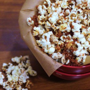 Bacon salt & maple syrup popcorn