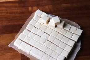 Rum & white chocolate fudge