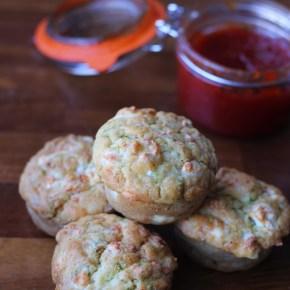 Feta, courgette & chilli savourymuffins