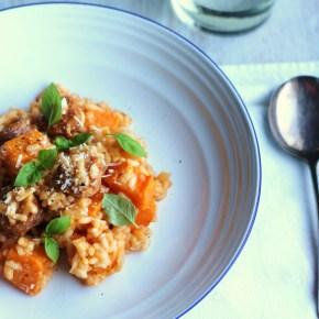 Chorizo & butternut squashrisotto