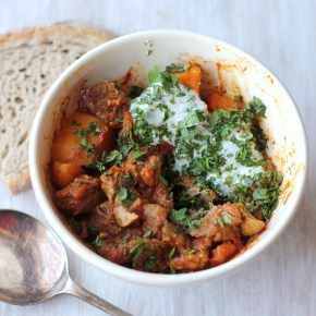 Moroccan feast: Lamb & butternut squash tagine with zingy herbyoghurt