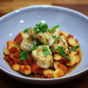 Spanish supper: Monkfish with quick chorizo & butterbean stew