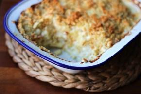 Truffly cauliflower mac andcheese