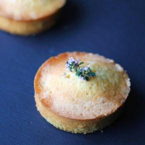 Sticky lemon thymecakes