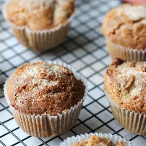 Rhubarb & cinnamon sugarmuffins