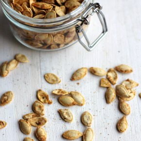 Spicy celery salt pumpkin seeds